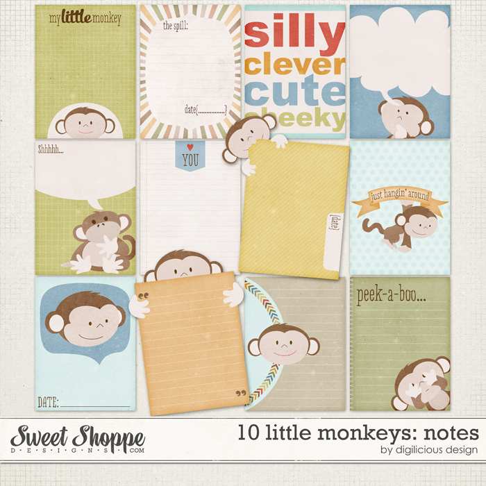 10 Little Monkeys Notes by Digilicious Design