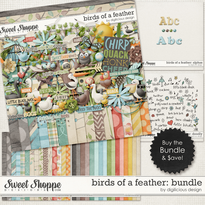 Birds Of A Feather Bundle by Digilicious Design