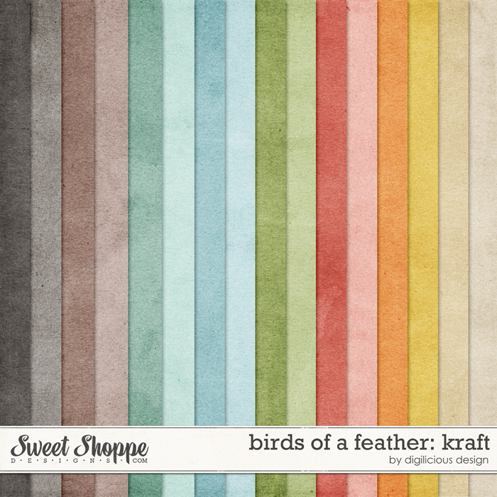Birds Of A Feather Kraft by Digilicious Design