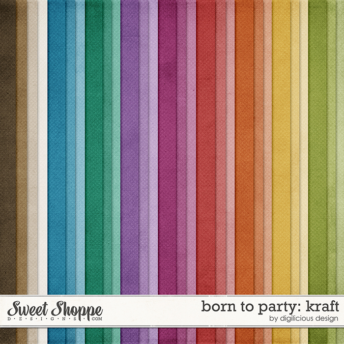 Born To Party Kraft by Digilicious Design