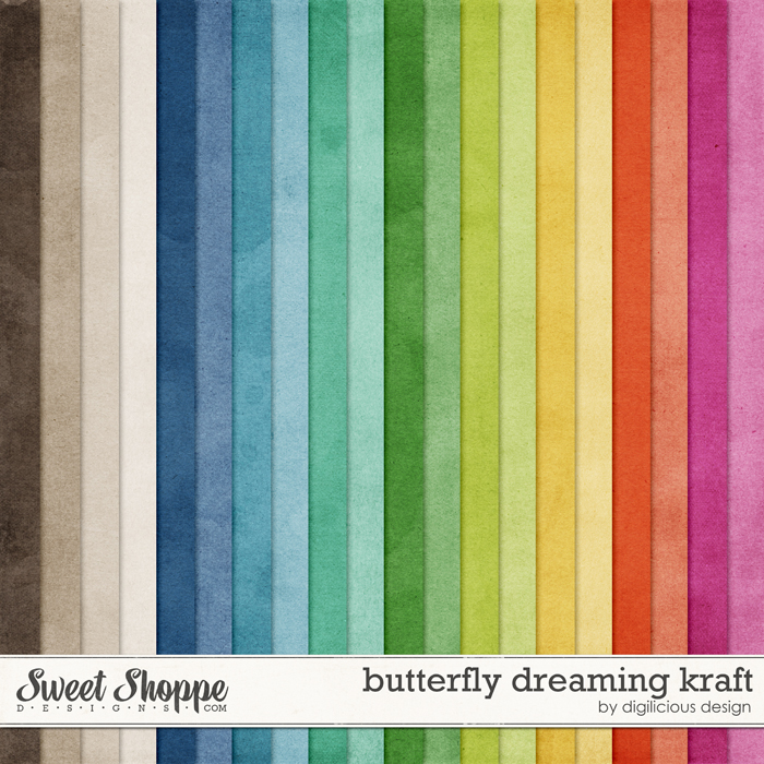 Butterfly Dreaming Kraft by Digilicious Design