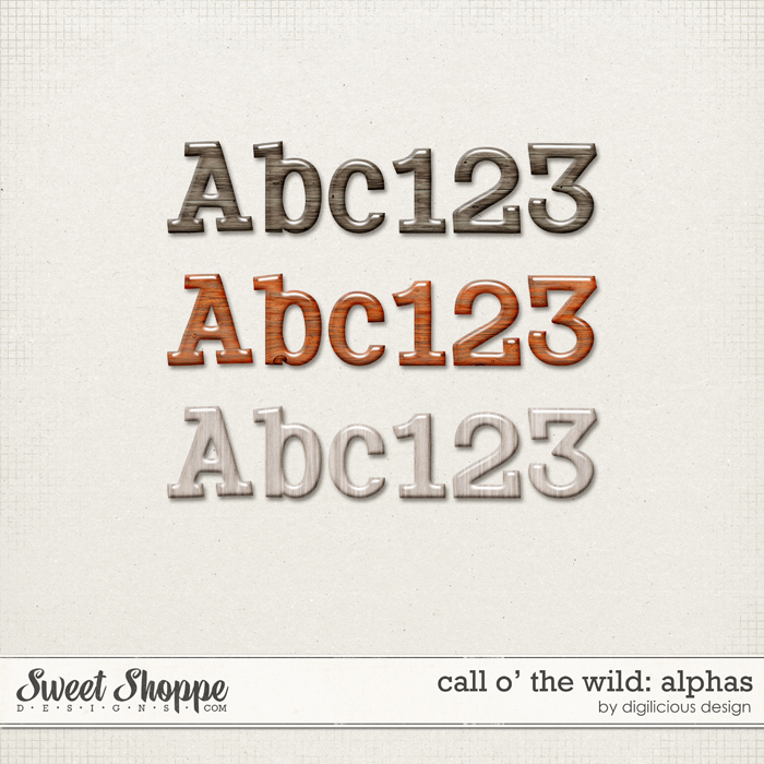 Call O' The Wild Alphas by Digilicious Design