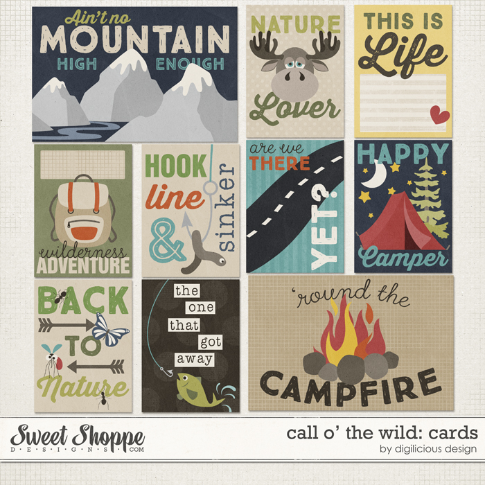 Call O' The Wild Cards by Digilicious Design