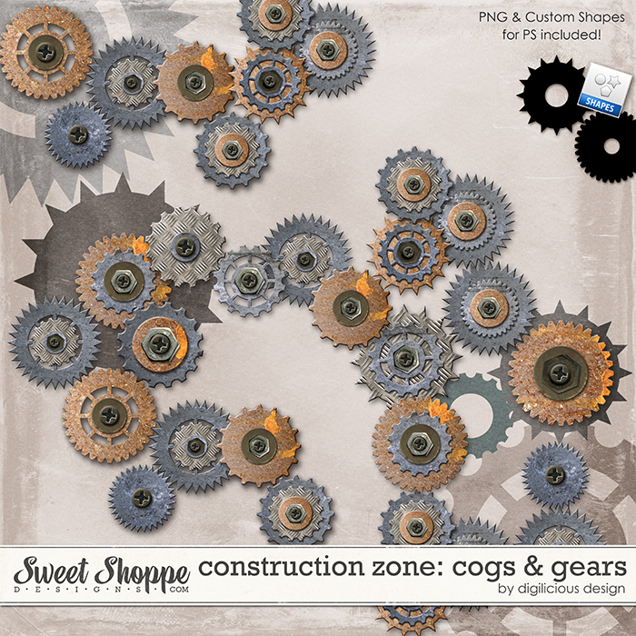 Construction Zone Cogs by Digilicious Design