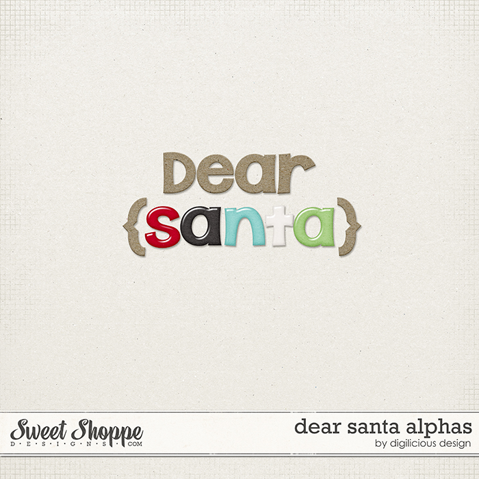 Dear Santa Alphas by Digilicious Design
