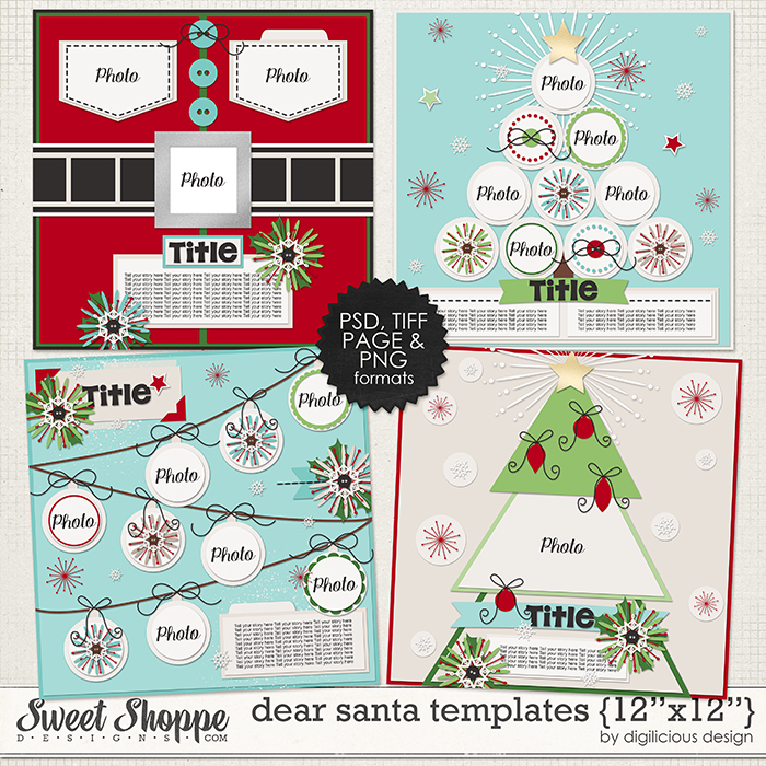 Dear Santa Templates by Digilicious Design
