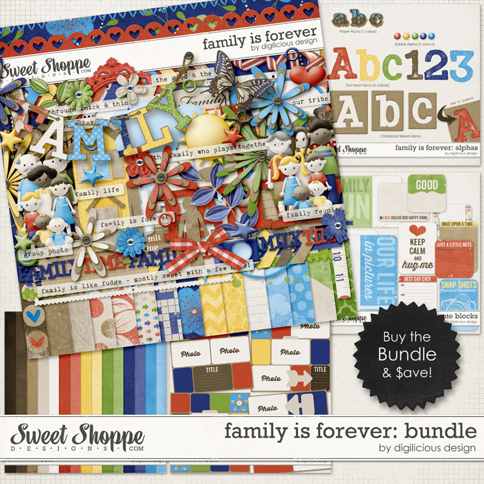 Family is Forever Bundle by Digilicious Design