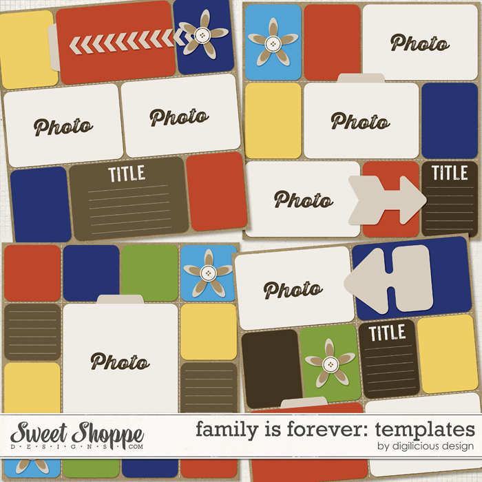 Family is Forever Templates by Digilicious Design