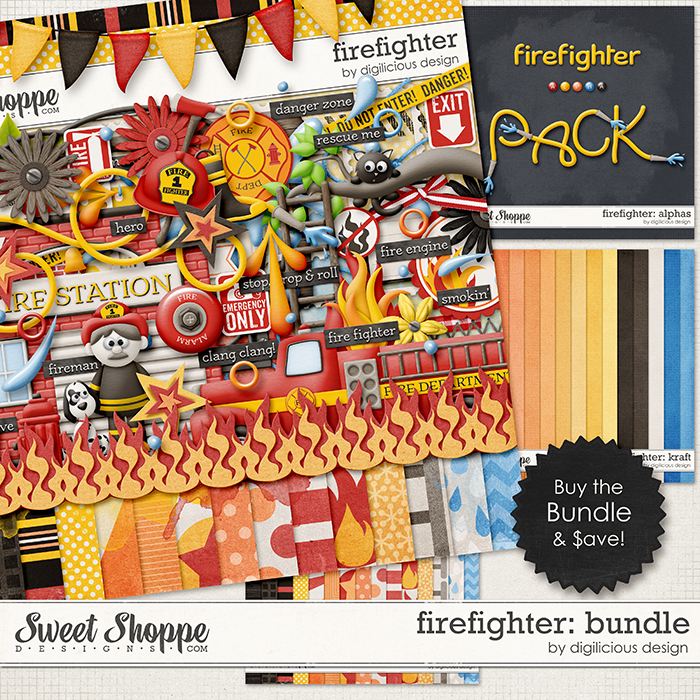 Firefighter Bundle by Digilicious Design