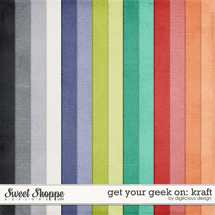 Get Your Geek On Kraft by Digilicious Design