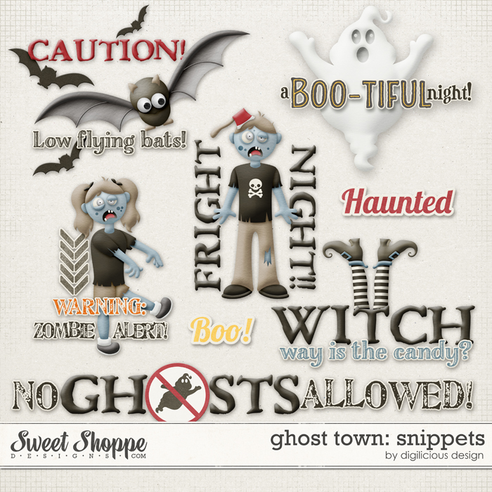 Ghost Town Snippets by Digilicious Design