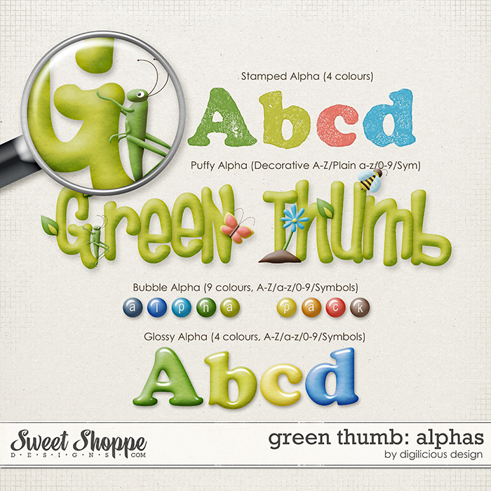 Green Thumb Alphas by Digilicious Design