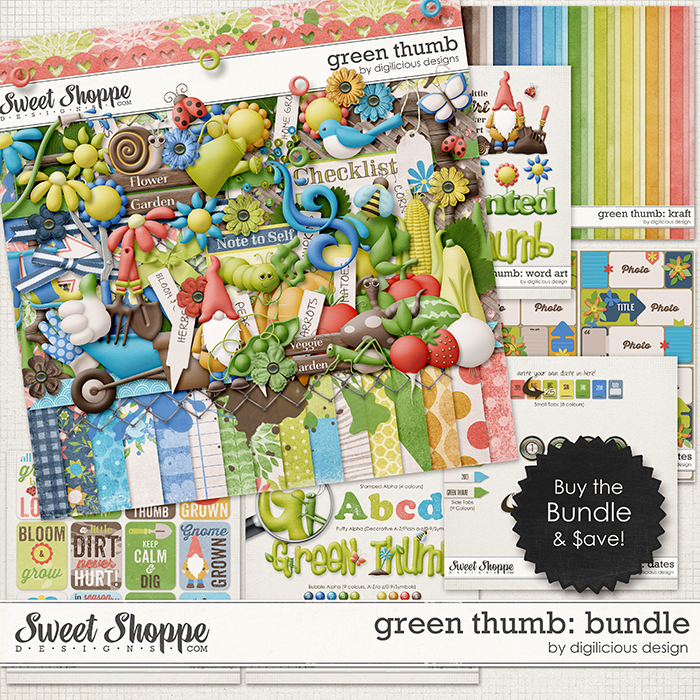 Green Thumb Bundle by Digilicious Design