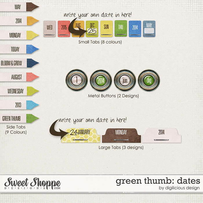 Green Thumb Dates by Digilicious Design