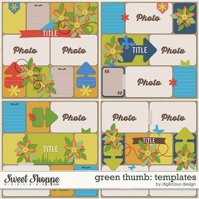 Green Thumb Templates by Digilicious Design