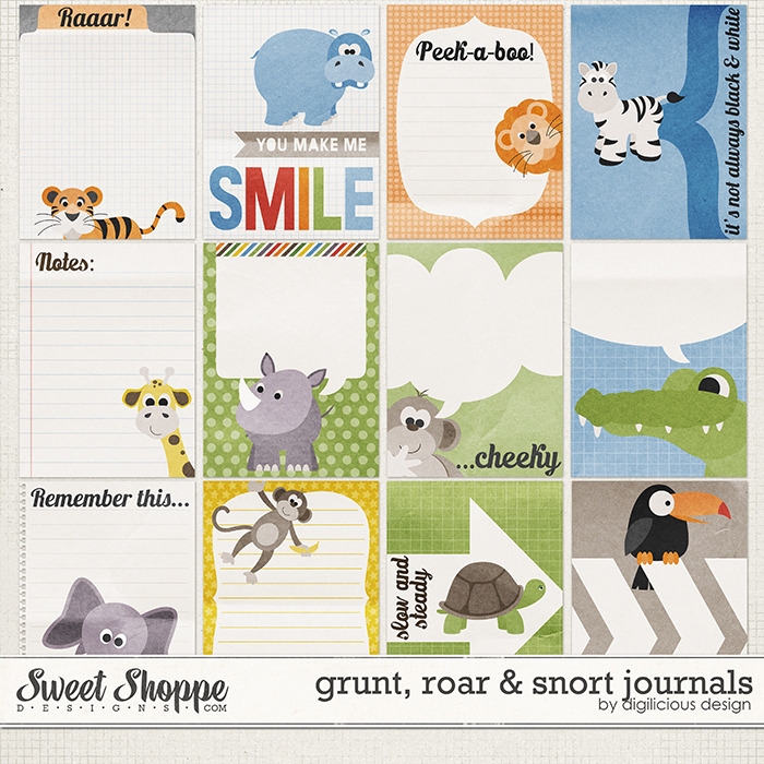 Grunt, Roar & Snort Journals by Digilicious Design