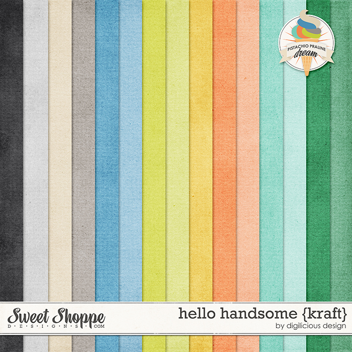 Hello Handsome Kraft by Digilicious Design