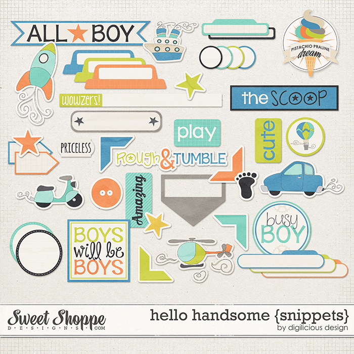 Hello Handsome Snippets by Digilicious Design