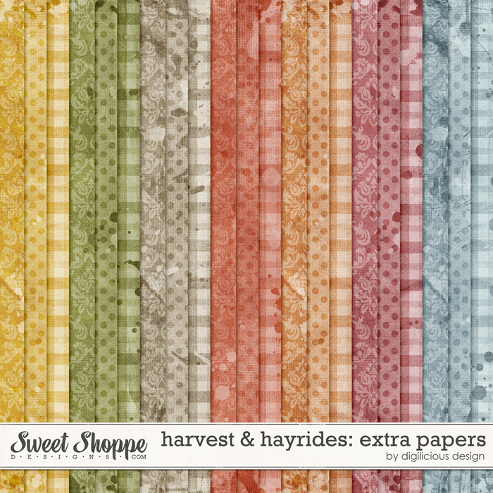 Harvest & Hayrides Extra Papers by Digilicious Design