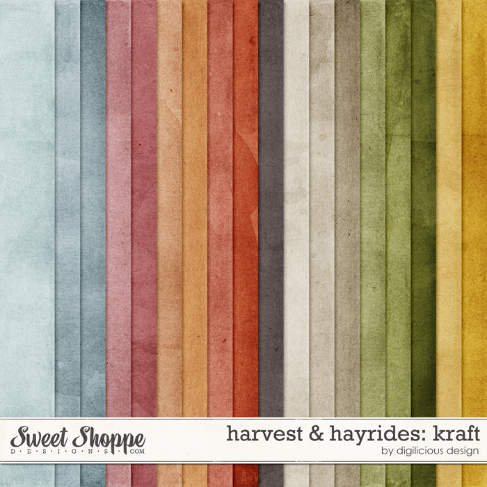 Harvest & Hayrides Kraft by Digilicious Design