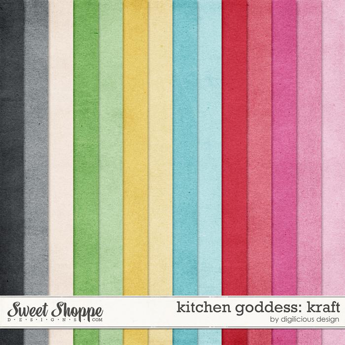 Kitchen Goddess Kraft by Digilicious Design