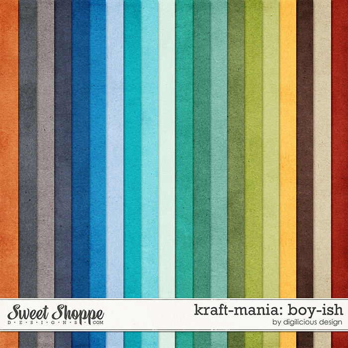 Kraft-mania: Boy-ish by Digilicious Design