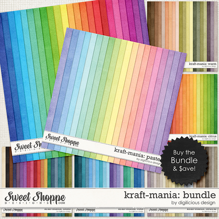 Kraft-mania: Bundle by Digilicious Design
