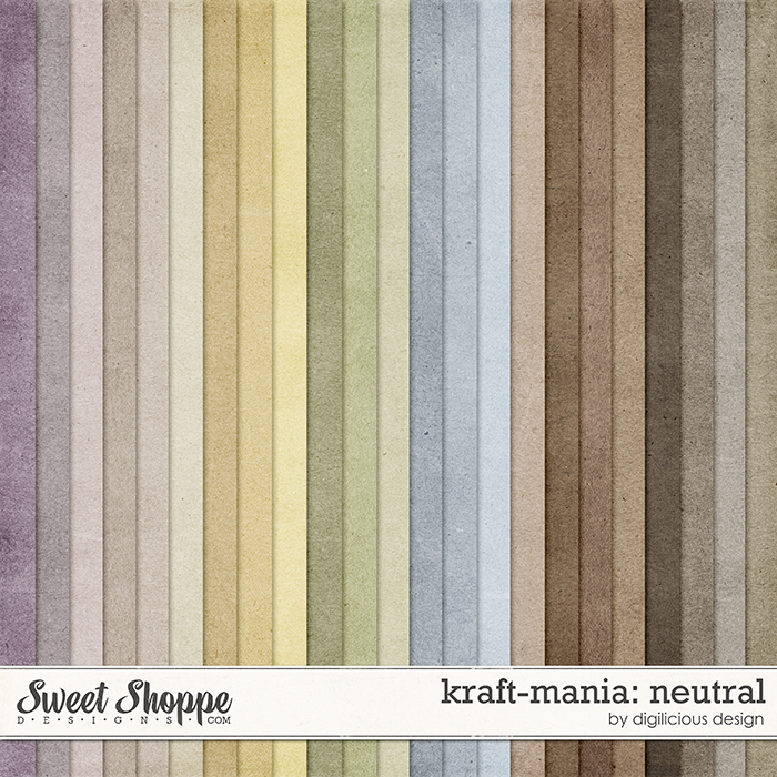 Kraft-mania: Neutral by Digilicious Design