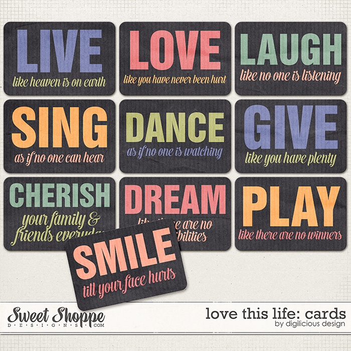 Love this Life Cards by Digilicious Design