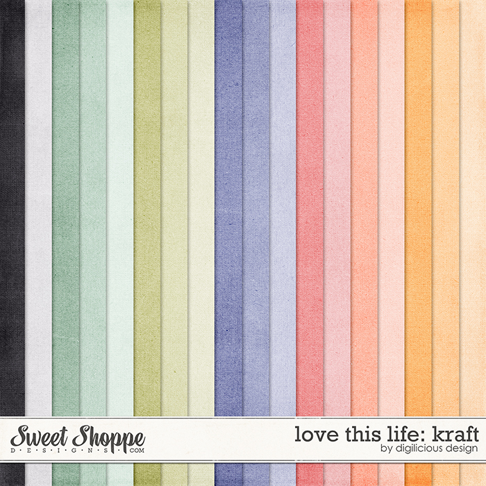 Love this Life Kraft by Digilicious Design