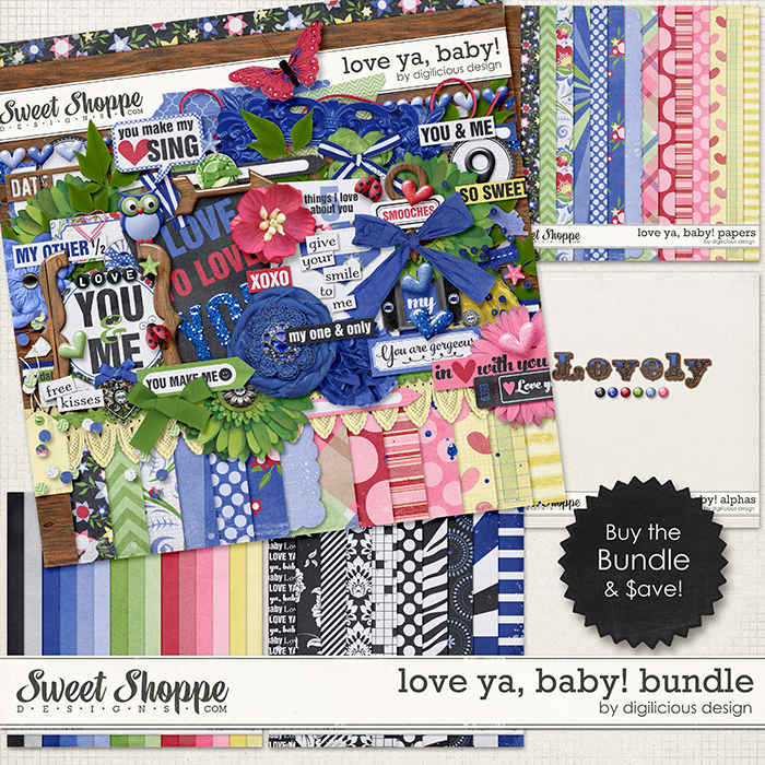 Love Ya, Baby Bundle by Digilicious Design