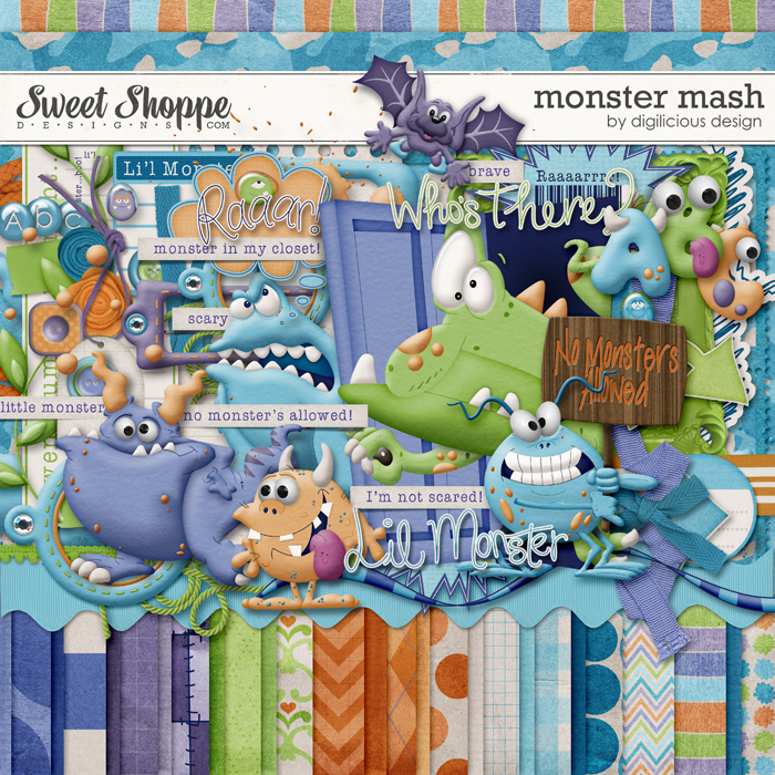 Monster Mash by Digilicious Design *with FREE Wordart!*