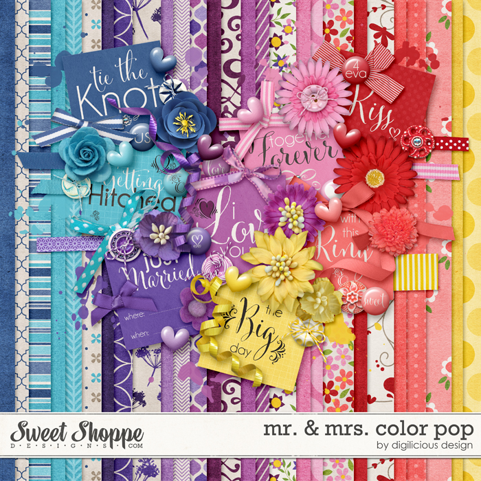 Mr. & Mrs. Color Pop by Digilicious Design