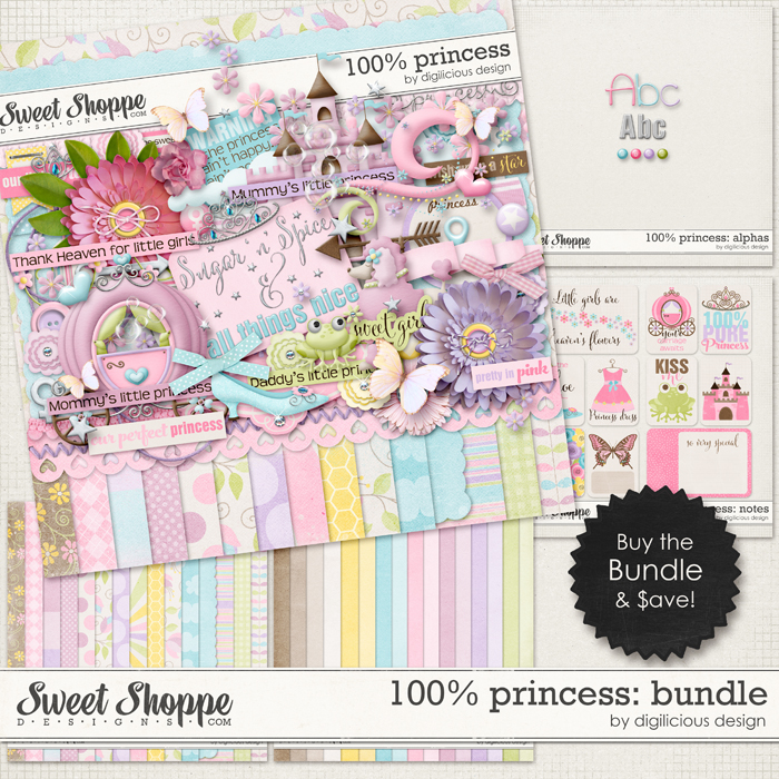 100% Princess Bundle by Digilicious Design