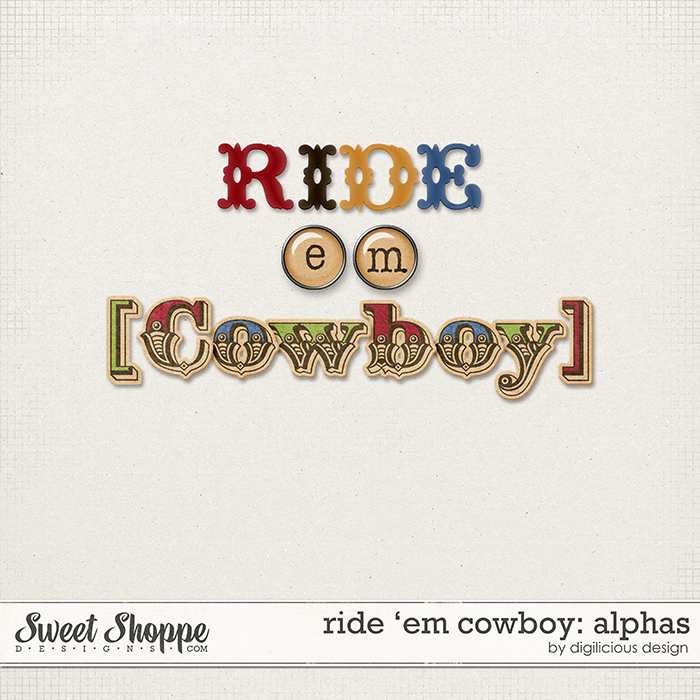 Ride 'em Cowboy Alphas by Digilicious Design