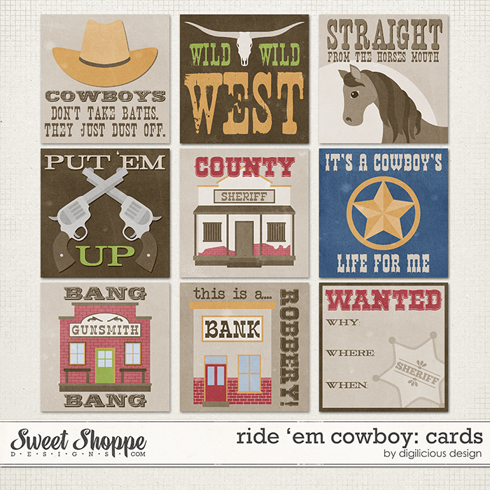 Ride 'em Cowboy Cards by Digilicious Design