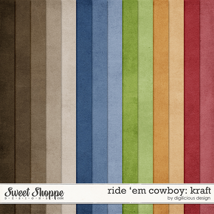 Ride 'em Cowboy Kraft by Digilicious Design
