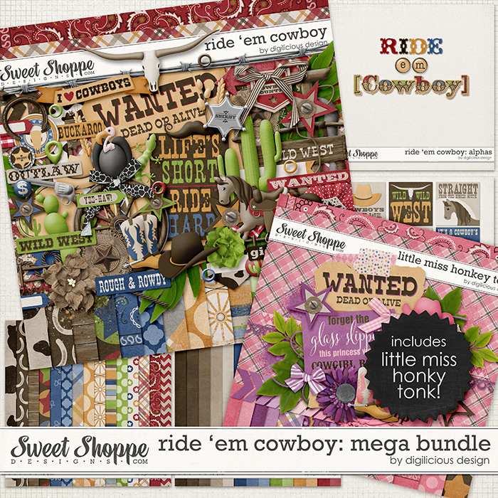 Ride 'em Cowboy MEGA Bundle by Digilicious Design
