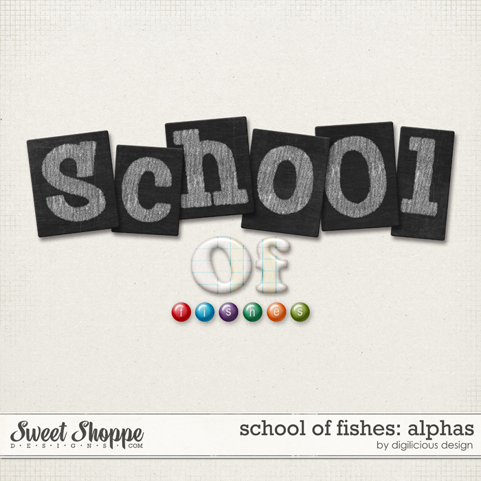 School of Fishes Alphas by Digilicious Design