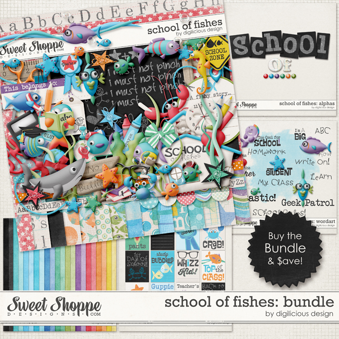 School of Fishes Bundle by Digilicious Design