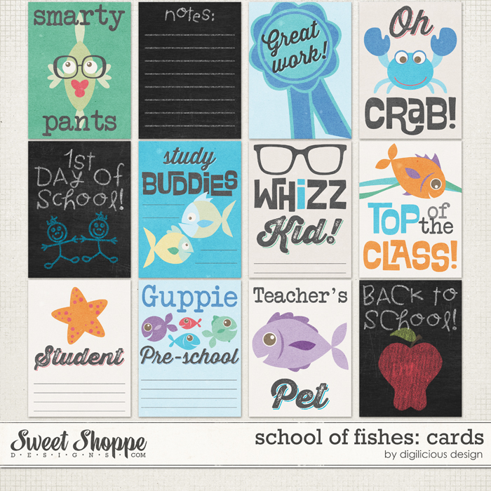 School of Fishes Cards by Digilicious Design