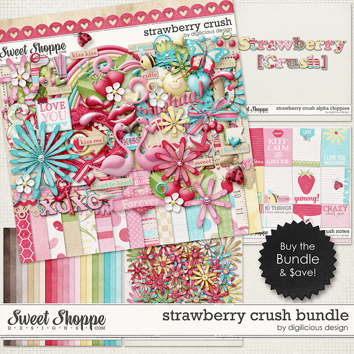Strawberry Crush Bundle by Digilicious Design