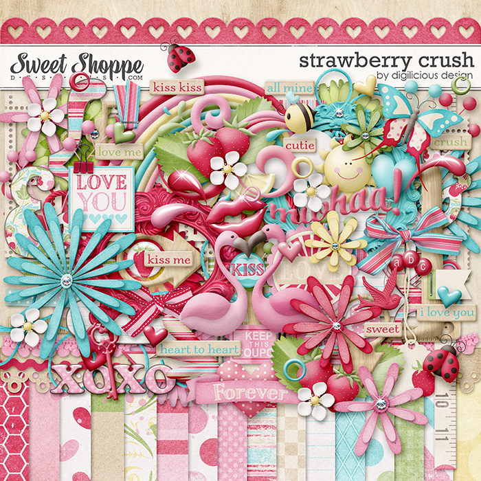 Strawberry Crush by Digilicious Design