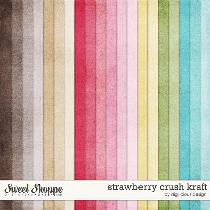 Strawberry Crush Kraft by Digilicious Design