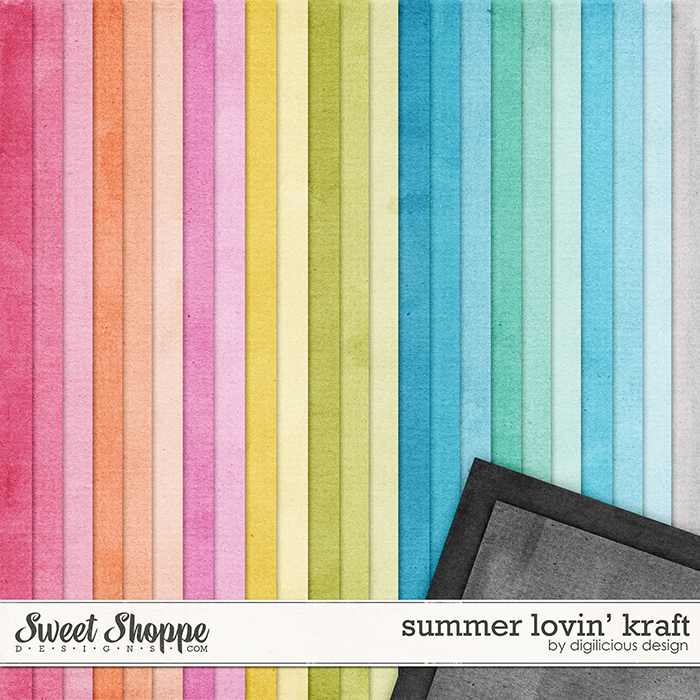 Summer Lovin' Kraft by Digilicious Design