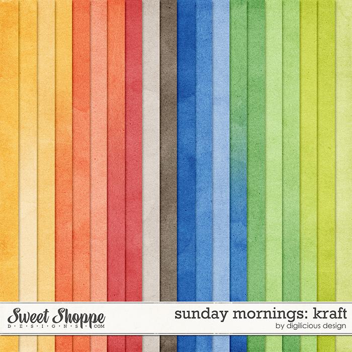 Sunday Mornings Kraft by Digilicious Design