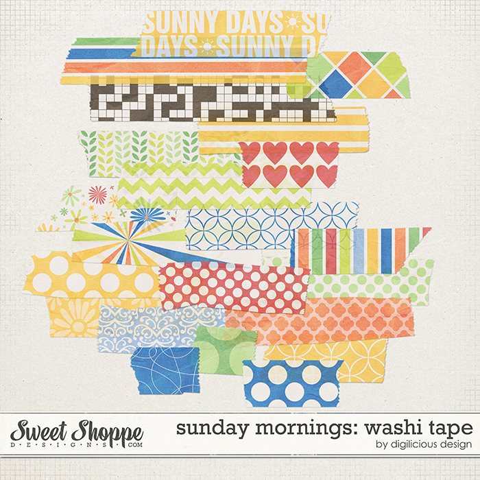 Sunday Mornings Washi Tape by Digilicious Design