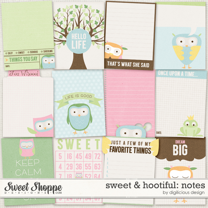 Sweet & Hootiful Notes by Digilicious Design