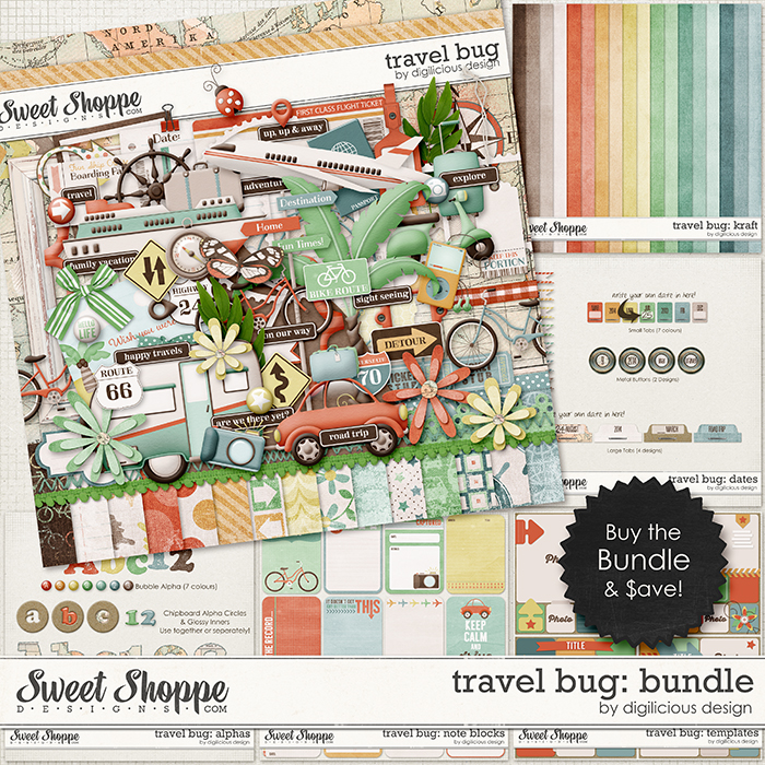 Travel Bug Bundle by Digilicious Design