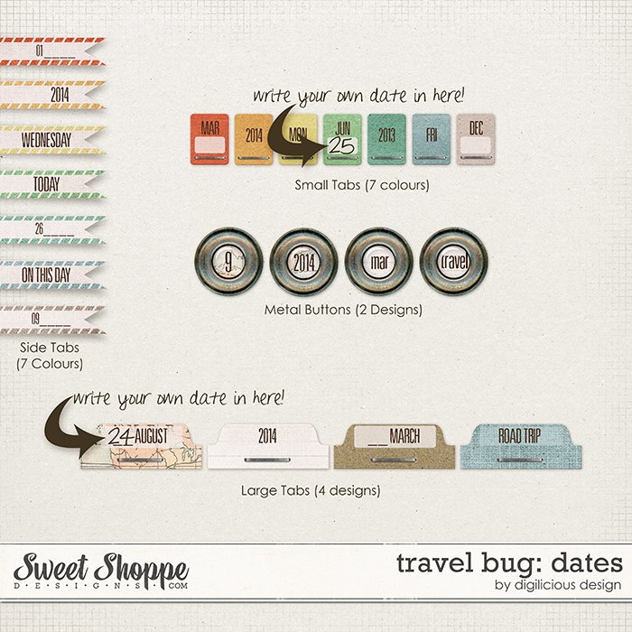 Travel Bug Dates by Digilicious Design
